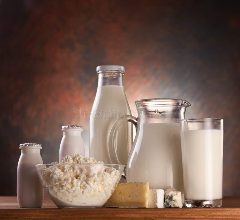 Foto de produtos de leite. fotografia de stock royalty free
