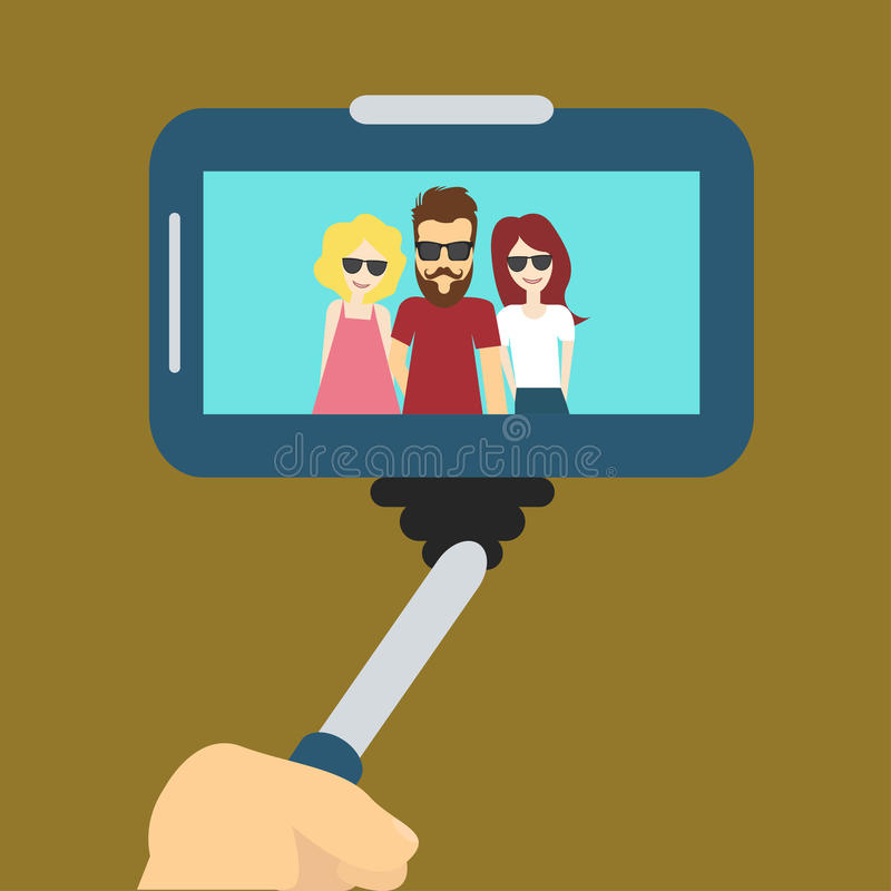 Foto de Selfie dos povos ilustração stock