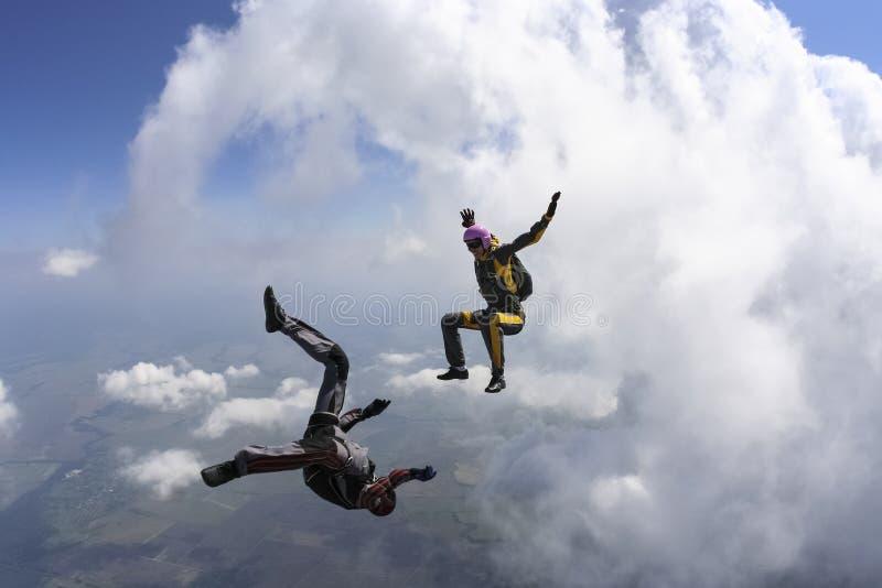 Foto de Skydiving. fotografía de archivo