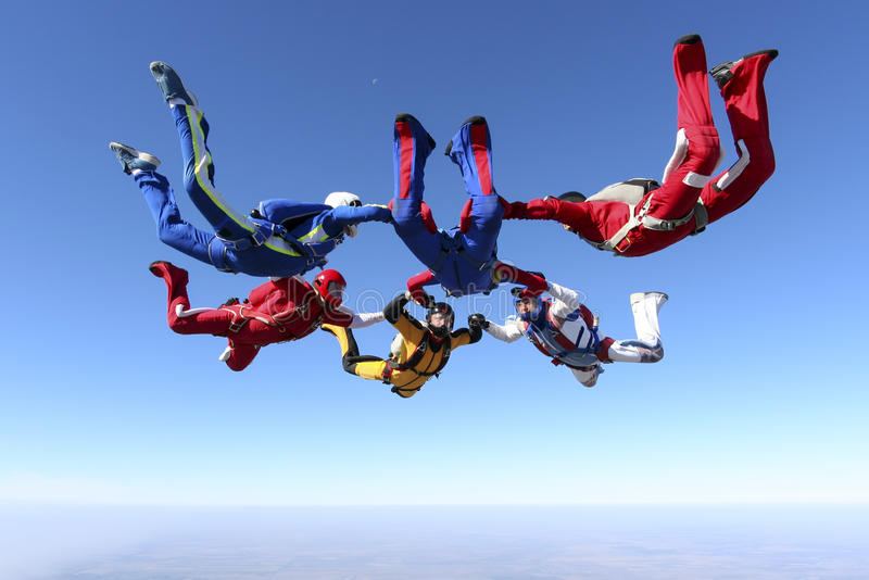 Foto de Skydiving. fotos de archivo libres de regalías