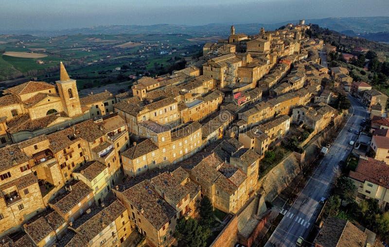 Foto de Treia, Macerata do zangão, Marche Itália imagens de stock royalty free