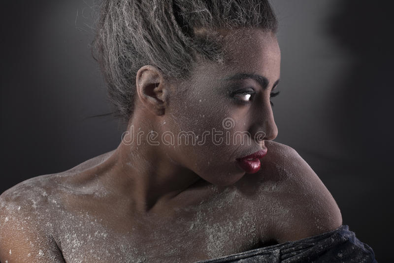 Foto de um brunette da beleza foto de stock royalty free
