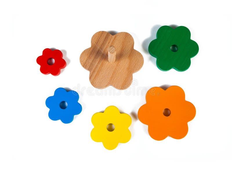 Foto de um classificador de madeira do brinquedo fotografia de stock