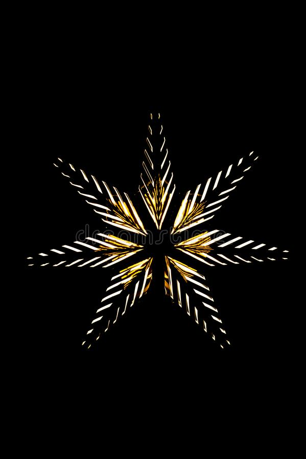 Foto de uma estrela dourada com ampolas imagem de stock
