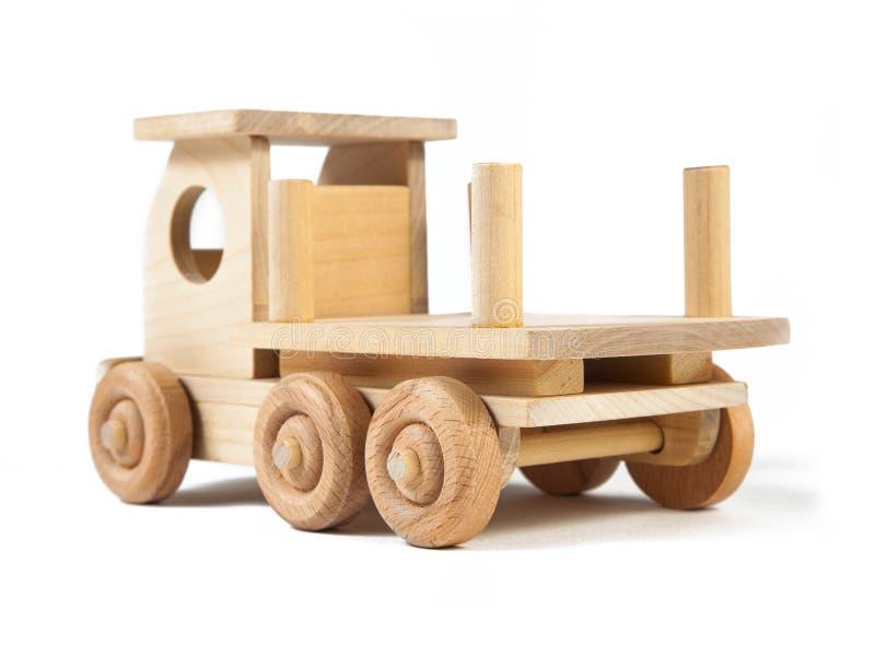 Foto de un camión de madera del juguete imagen de archivo