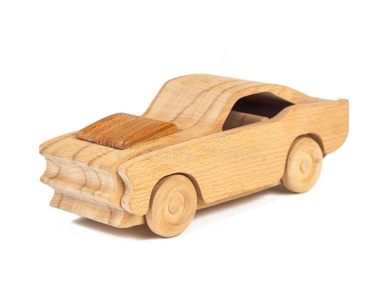 Foto de un coche de madera de la haya fotos de archivo