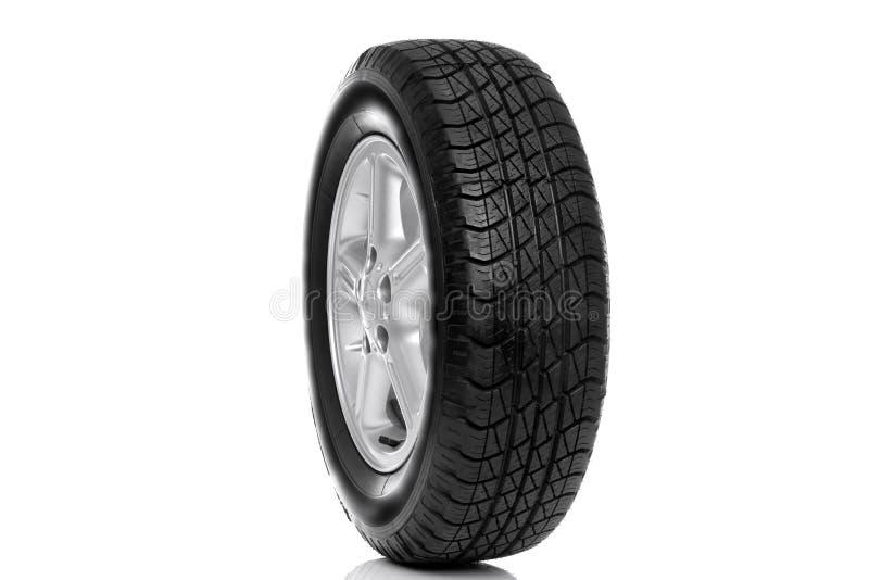 Foto de un neumático del coche (neumático) aislado imágenes de archivo libres de regalías