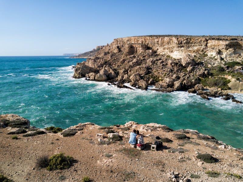 Foto del abejón de la costa rugosa de Malta foto de archivo libre de regalías
