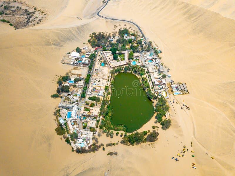 Foto del abejón de un oasis de Huacachina en Perú fotografía de archivo libre de regalías