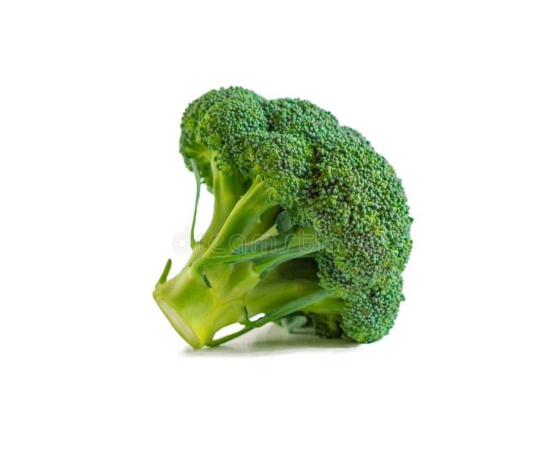 Foto del bróculi fresco aislada en el fondo blanco Objeto para el uso en diseño Productos de Vegitalian Alimento sano fotografía de archivo libre de regalías