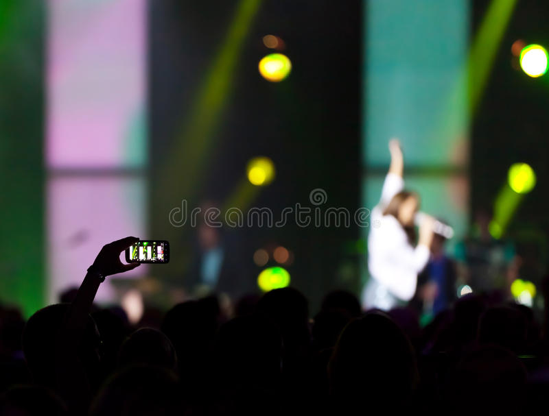 Foto del concierto imagenes de archivo