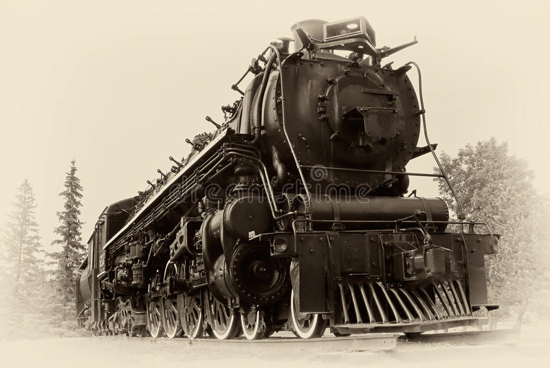 Foto del estilo de la vendimia del tren del vapor fotografía de archivo