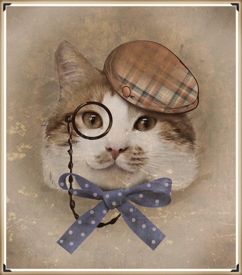 Download Foto Del Estilo Del Vintage Del Gato Vestido Foto de archivo - Imagen de retro, cultura: 41918686