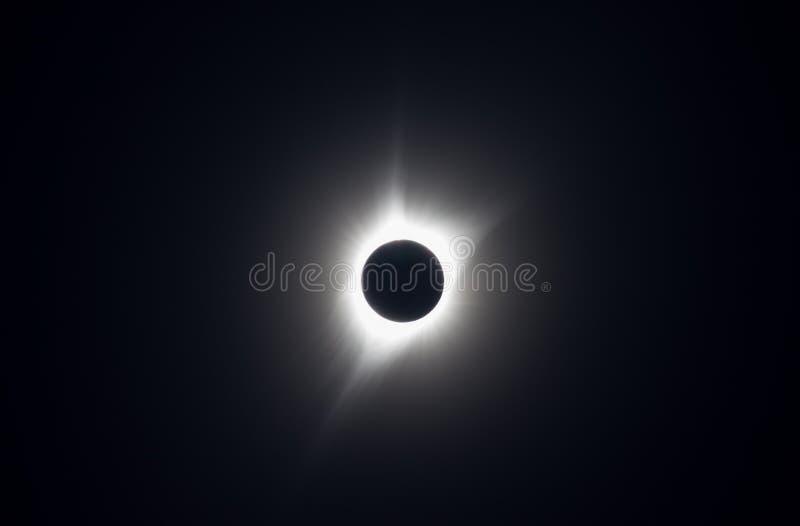 Foto del gran eclipse americano de 2017, tomado de la trayectoria de la totalidad fotos de archivo