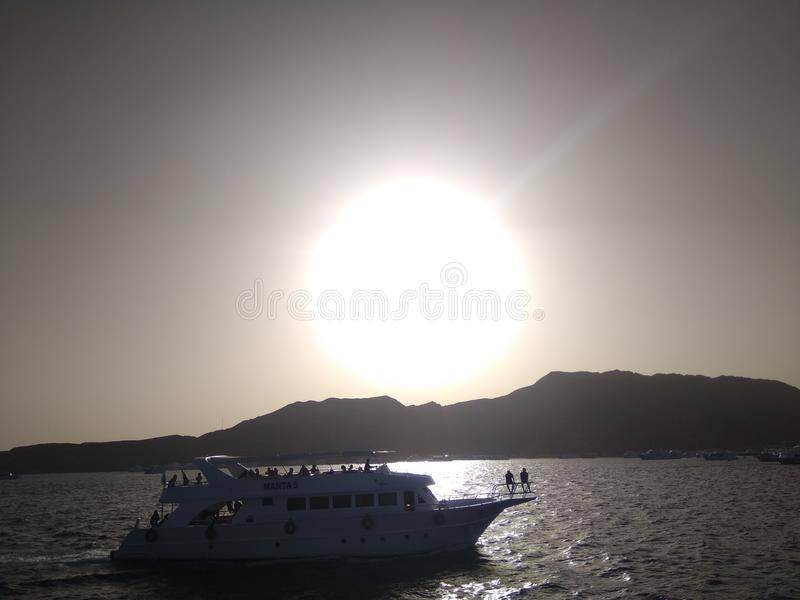 Foto del Mar Rojo abierto imagen de archivo