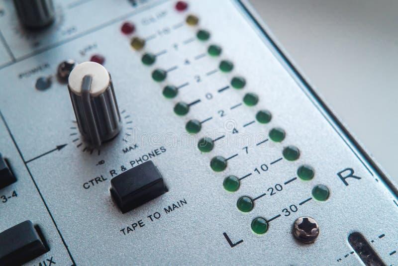 Foto del mezclador audio análogo fotos de archivo