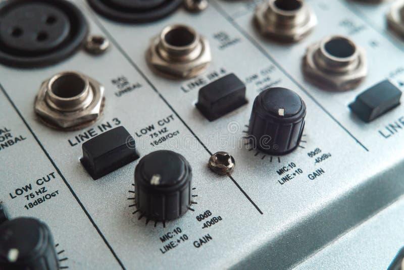 Foto del mezclador audio análogo foto de archivo libre de regalías