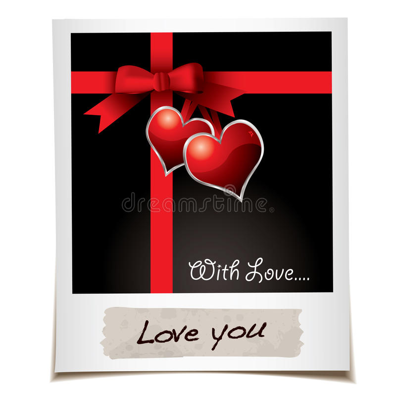 Foto del nastro di amore illustrazione di stock