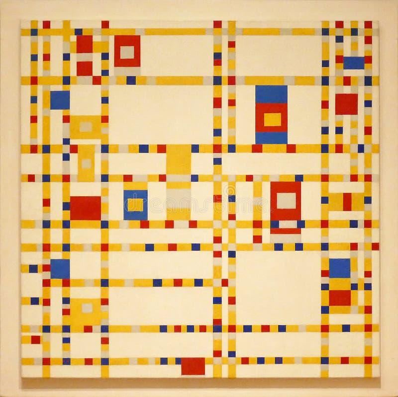 Foto del ` originale famoso di boogie-woogie di Broadway del ` da Piet Mondrian fotografia stock libera da diritti