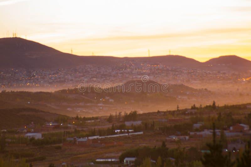 Foto del paesaggio di alcune colline di Patagone alla mattina immagine stock libera da diritti