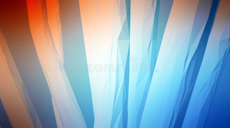 Foto del polígono multicolor altamente detallado Abstraiga el fondo de la configuración Espacio interno de una construcción caóti libre illustration