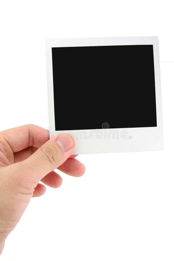 Foto del Polaroid fotografie stock