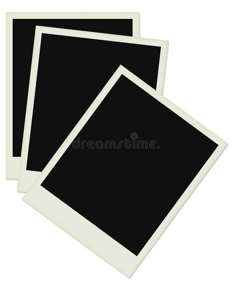 Foto del Polaroid in vecchio documento fotografia stock libera da diritti