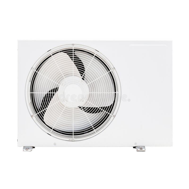 Foto del primer del dispositivo blanco del acondicionador de aire aislado fotos de archivo libres de regalías