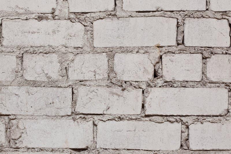Foto del primo piano del muro di mattoni bianco fotografie stock libere da diritti