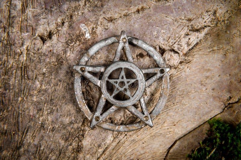 Foto del primo piano del pentagramma fotografia stock libera da diritti