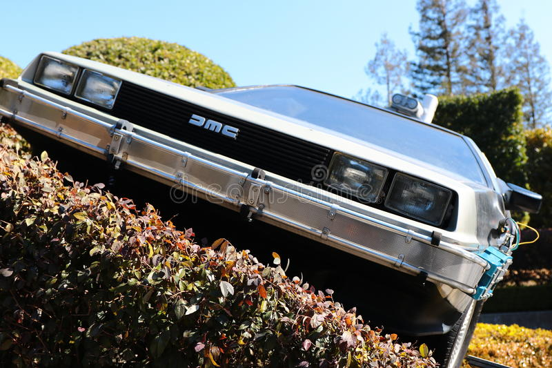 Foto del replicathe di A del di nuovo al DeLorean futuro immagine stock
