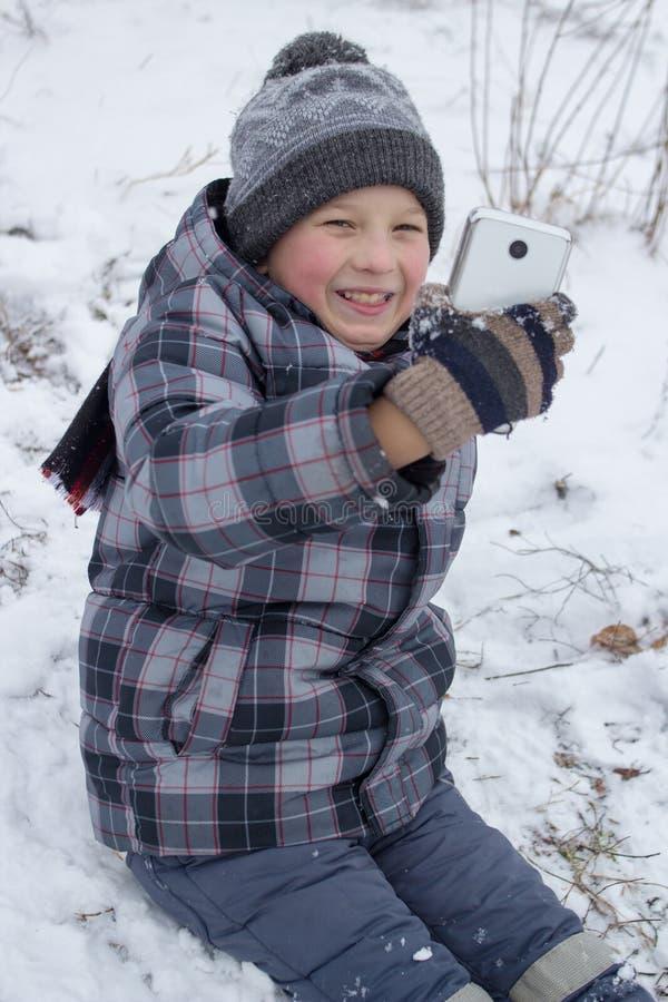 Foto del selfie del invierno fotos de archivo libres de regalías