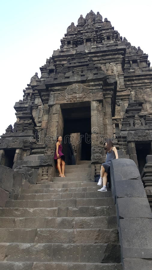 Foto del tempio di Prambanan fotografia stock