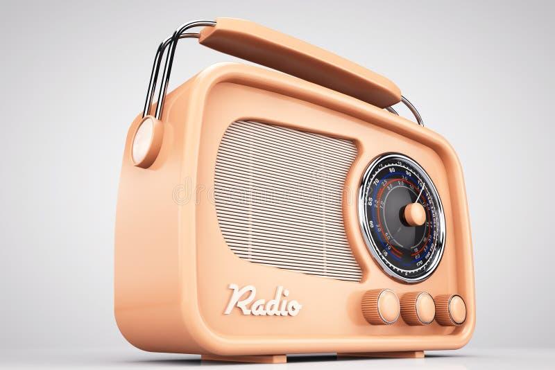 Foto del viejo estilo Radio del vintage del primer imagenes de archivo