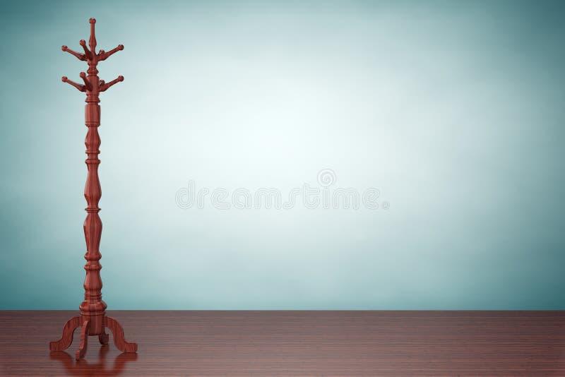 Foto del viejo estilo Representación de madera del estante 3d de la capa del vintage ilustración del vector