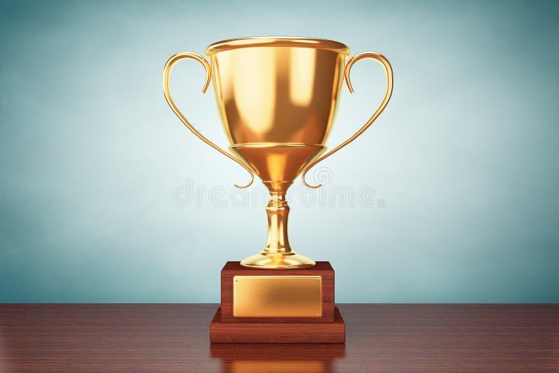 Foto del viejo estilo Trofeo de la taza del oro del campeón imagen de archivo