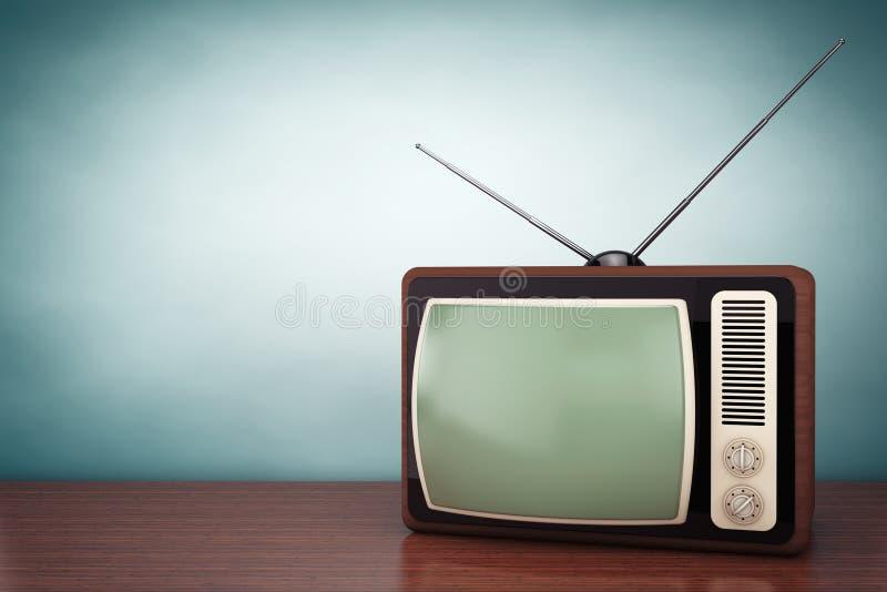 Foto del viejo estilo Vintage clásico TV imagen de archivo libre de regalías
