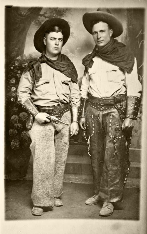 Foto dell'annata dei cowboy immagine stock