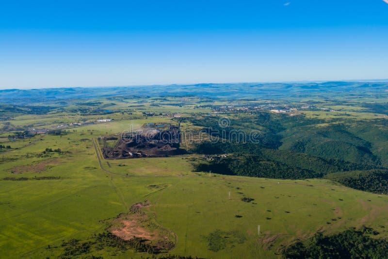 Foto dell'aria della cava del carbone immagini stock libere da diritti