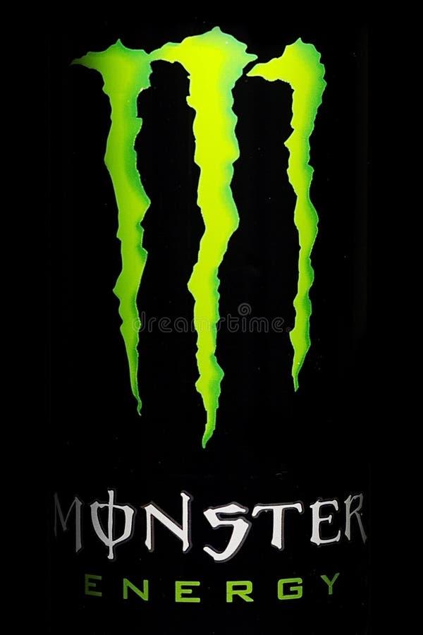 Foto della bevanda di energia del mostro fotografia stock