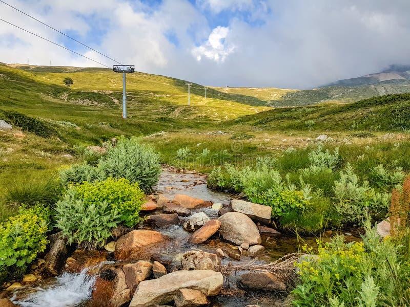 Foto della molla di Uludag/Bursa/Turchia, paesaggio della natura immagini stock libere da diritti