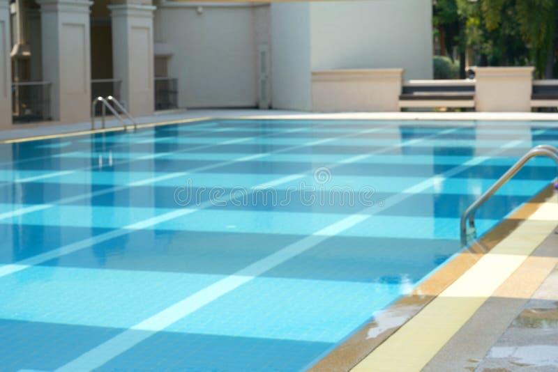 Foto della sfuocatura della piscina senza una fotografie stock libere da diritti