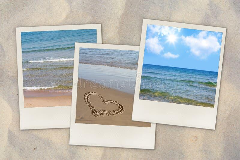 Foto della spiaggia sulla sabbia fotografie stock libere da diritti