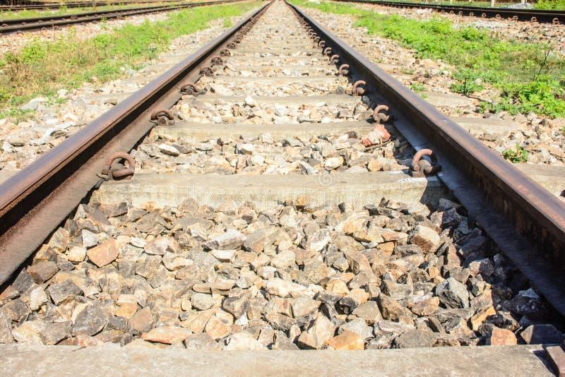 Foto della strada di ferrovia, modello simmetrico immagini stock