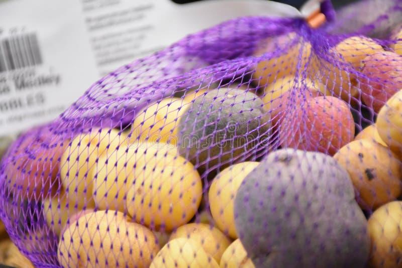 Foto delle azione della patata dell'arcobaleno immagine stock