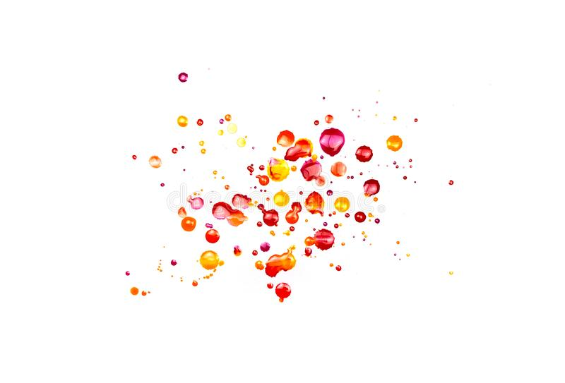 Foto der abstrakten handgemalten Aquarellbürste streicht und spritzt stockbild