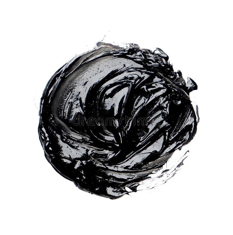 Foto der bunten schwarzen Bürstenanschlag-Ölfarbe lizenzfreie stockbilder