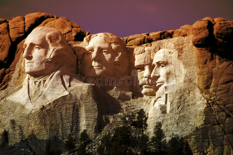 Foto der Montierung Rushmore, South Dakota   lizenzfreie stockfotografie