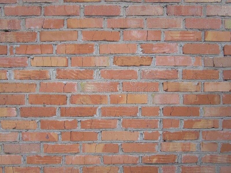 Foto der Wand des roten Backsteins stockbild