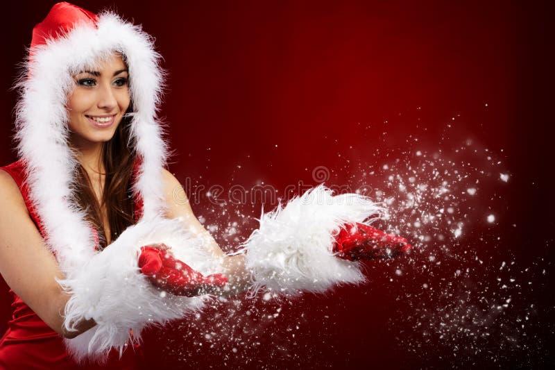 Foto des Art und Weise Weihnachtsmädchens lizenzfreie stockfotografie